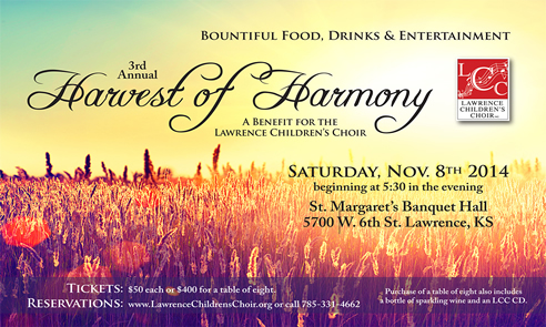 11/08/2014 Third Annual Harvest of Harmony Benefit Auction
